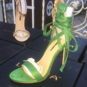 Green Goddess Woman's High Heel Shoe